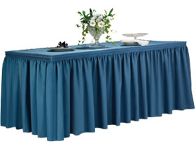 Wholesale Table Skirts from TableSkirtingClip.com